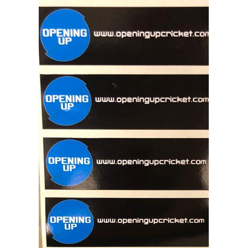 Opening Up Bat Sticker - Pack of 11
