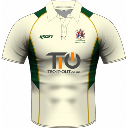 Stalybridge CC Junior Playing Shirt - Short Sleeve