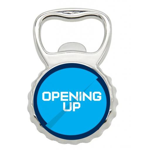 Opening Up - Bottle Opener Fridge Magnet