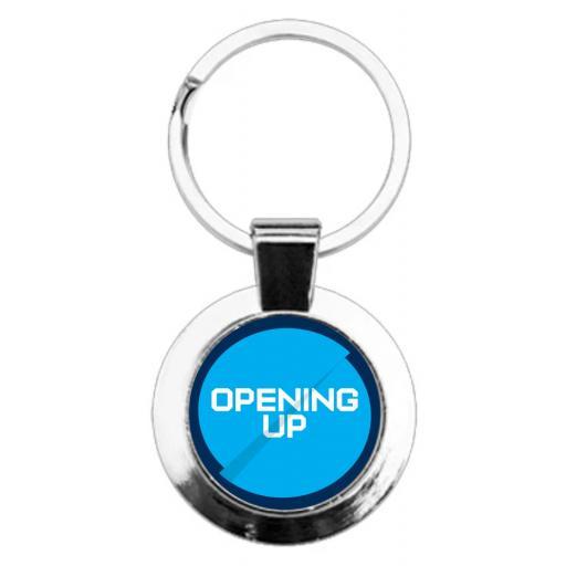 Opening Up - Round Keyring