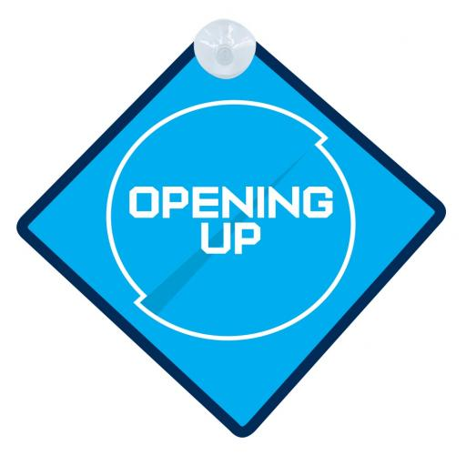 Opening Up - Car Window Hanger