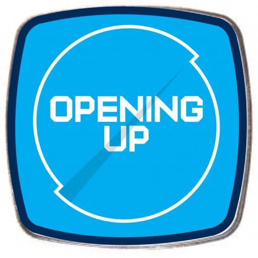 Opening Up - Square Fridge Magnet