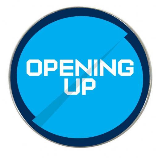 Opening Up - Round Fridge Magnet